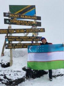 Самаркандец покорил вершину Килиманджаро в горах Африки